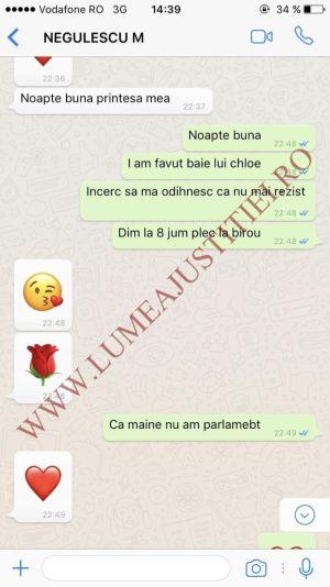 Procurorul Mircea Negulescu îi trimitea mesaje de iubire Andreei Cosma.