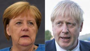 Angela Merkel şi Boris Johnson (Sursa foto: Twitter)