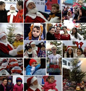 "Santa came along with gifts and brought joy to children at the ""BURSA"" offices"