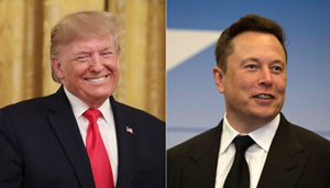 Donald Trump şi Elon Musk-proprietarul SpaceX