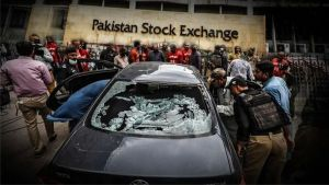 Terrorist attack at the biggest stock exchange in Pakistan